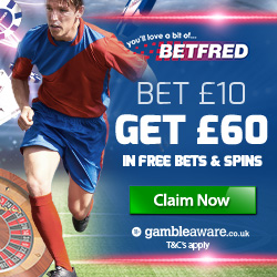 Betfred betting bonus